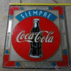 Carteles: CARTEL DE CRISTAL PINTADO, COCA COLA. Lote 44774743