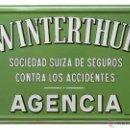Carteles: CHAPA ESMALTADA SEGUROS WINTERTHUR. Lote 45191801