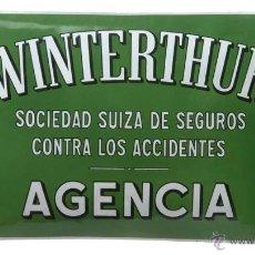 Carteles - chapa esmaltada abombada seguro Winterthur - 45191834