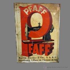 Carteles: CHAPA DE PUBLICIDAD. PFAFF. FRANCIA. 1900 - 1910.. Lote 45451286