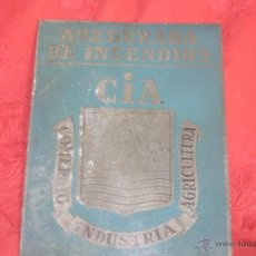 Carteles: CHAPA ASEGURADA DE INCENDIOS. COMERCIO - INDUSTRIA - AGRICULTURA.. Lote 45900717