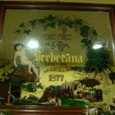 Carteles: ANTIGUO ESPEJO BERBERANA 80X70. Lote 46134685