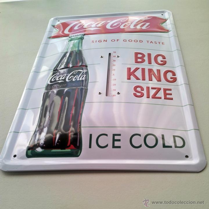 Cartel chapa term metro coca cola esmaltada comprar - Chapa coca cola pared ...