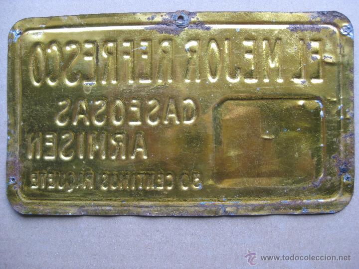 Carteles: GASEOSAS ARMISEN - RARISIMA CHAPA EN RELIEVE - G. DE ANDREIS BADALONA - Foto 2 - 47103082