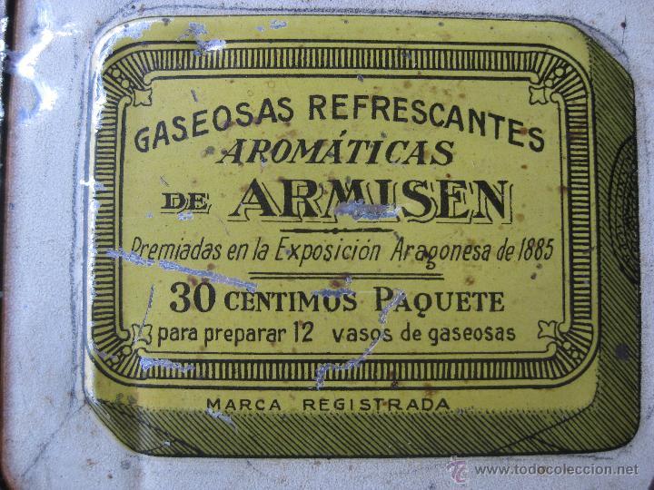 Carteles: GASEOSAS ARMISEN - RARISIMA CHAPA EN RELIEVE - G. DE ANDREIS BADALONA - Foto 3 - 47103082