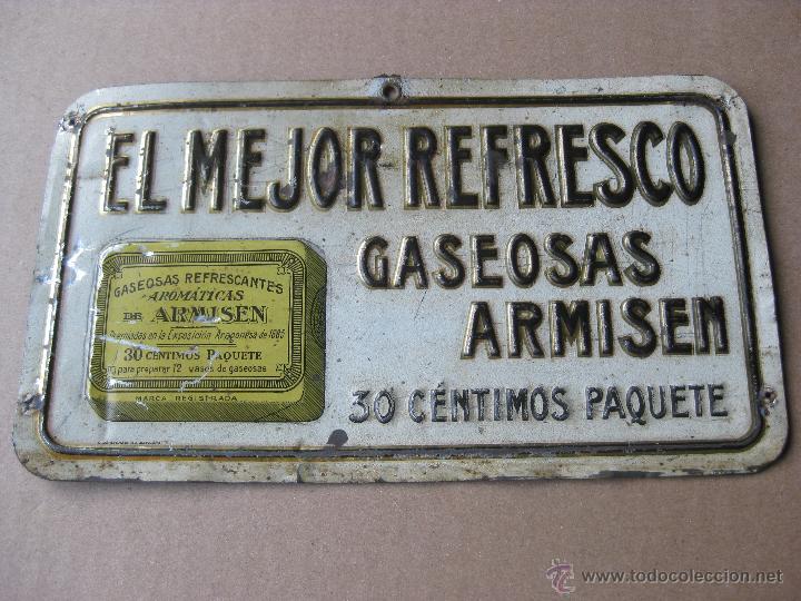 Carteles: GASEOSAS ARMISEN - RARISIMA CHAPA EN RELIEVE - G. DE ANDREIS BADALONA - Foto 5 - 47103082