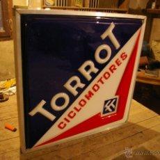 Carteles: LUMINOSO DE CICLOMOTORES TORROT 66 X 66 X 9 CM.. Lote 47207193