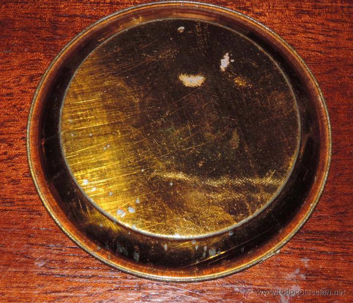 Carteles: ANTIGUO PLATO DE HOJALATA LITOGRAFIADO CON PUBLICIDAD DE LA MEJOR SIDRA CHAMPAGNE, EL HORREO, HIJOS - Foto 2 - 47391314