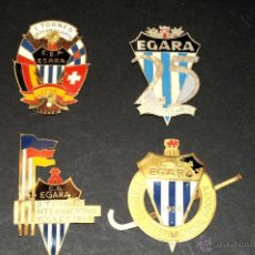Carteles: PRECIOSAS PLACAS O ESCUDO EGARA AÑO 1954, 1956, 1958 Y 25 ANIVERSARIO. Lote 47540828