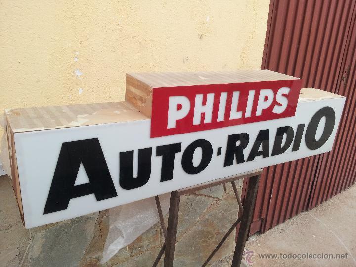 Carteles: ANTIGUO ROTULO LUMINOSO PHILIPS - Foto 3 - 46135374