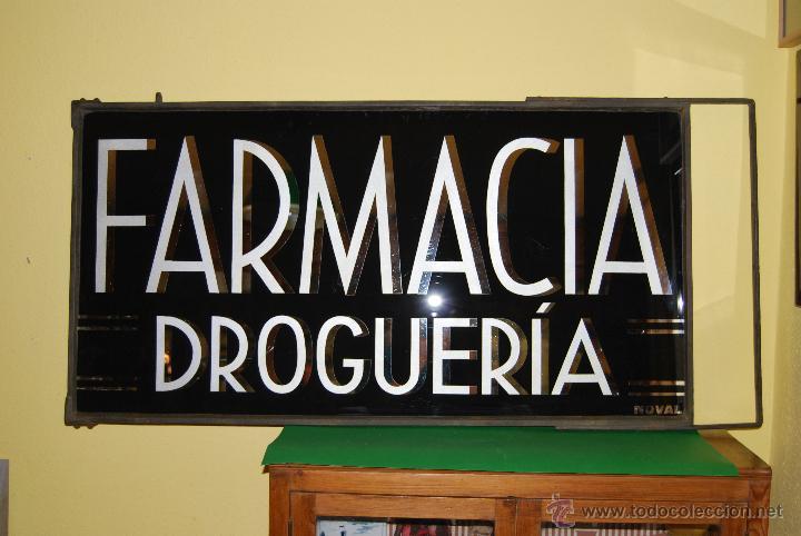 cartel de cristal - farmacia - droguería - espe - Comprar Carteles ...
