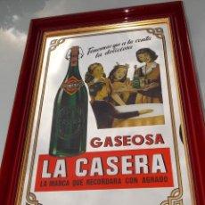 Carteles: ANTIGUO CUADRO ESPEJO LA CASERA ORIGINAL AÑOS 70 // CARTEL LA CASERA POR PUVENSA. Lote 47035466