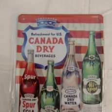 Carteles: PLACA CANADIAN DRY. Lote 48619612