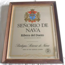 Carteles: CUADRO, ESPEJO, SEÑORIO DE NAVA, RIVERA DEL DUERO. Lote 48885947