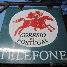 Carteles: CARTEL PLACA PRECIOSA DE CHAPA ESMALTADA LACADA CORREIO DE PORTUGAL TELEFONE CORREO TELEFONO. Lote 49093606