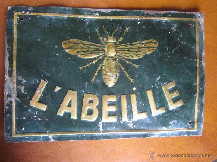 CHAPA PUBLICITARIA L'ABEILLE (Coleccionismo - Carteles y Chapas Esmaltadas y Litografiadas)