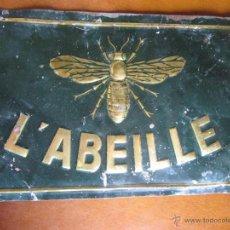 Carteles: CHAPA PUBLICITARIA L'ABEILLE. Lote 49457060