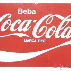 Carteles: CHAPA PLACA PUBLICIDAD DE COCACOLA BEBA COCA COLA AÑOS 70 - 80. Lote 50020695