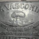 Carteles: ANTIGUA CHAPA - PLACA DE SEGUROS LA VASCONIA INCENDIOS AÑO 1901 - PAMPLONA. Lote 50111289