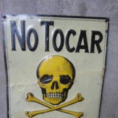 Carteles - CHAPA NO TOCAR PELIGRO DE MUERTE AÑOS 60 - 50121597