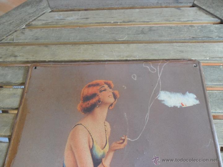 Carteles: CHAPA LOTOGRAFIADA EN METAL PUBLICIDAD TONICA REFRESCOS SCHWEPPES MIDE 49.5 X 34.5 CM - Foto 2 - 50185225