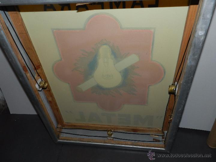 Carteles: (M) LUMINOSO LAMPARA METAL , AÑOS 60 / 70 , 73 X 58 CM , VER FOTOGRAFIAS ADICIONALES - Foto 9 - 50339029