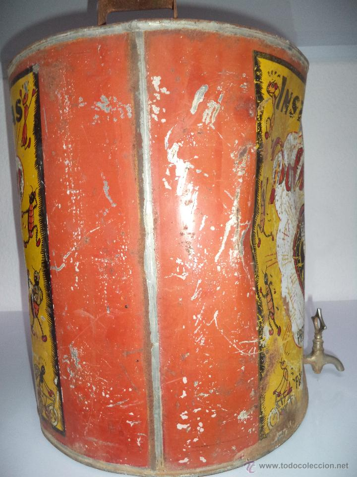 Carteles: Lata de Insecticidas Polvorín,Murcia,Gran tamaño,con grifo,muy rara,regular estado - Foto 3 - 50366254