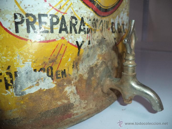 Carteles: Lata de Insecticidas Polvorín,Murcia,Gran tamaño,con grifo,muy rara,regular estado - Foto 7 - 50366254