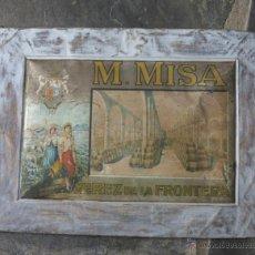 Carteles: MUY RARA ! CHAPA LITOGRFÍADA MISA - XEREZ DE LA FRONTERA 1900 - 1910. Lote 50417566