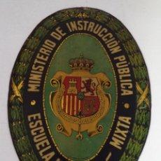 Carteles: CHAPA DE ESCUELA,ALFONSO XIII,ESCUELA MIXTA,RARO MODELO,INENCONTRABLE,RARA,ES LA DE LA FOTO. Lote 50550798