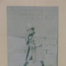 Carteles: PLACA METÁLICA PUBLICITARIA DE JOHNNIE WALKER. Lote 50627550