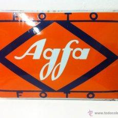 Carteles: ANTIGUA GRAN CHAPA, CARTEL ESMALTADO AGFA FOTO. Lote 51224987
