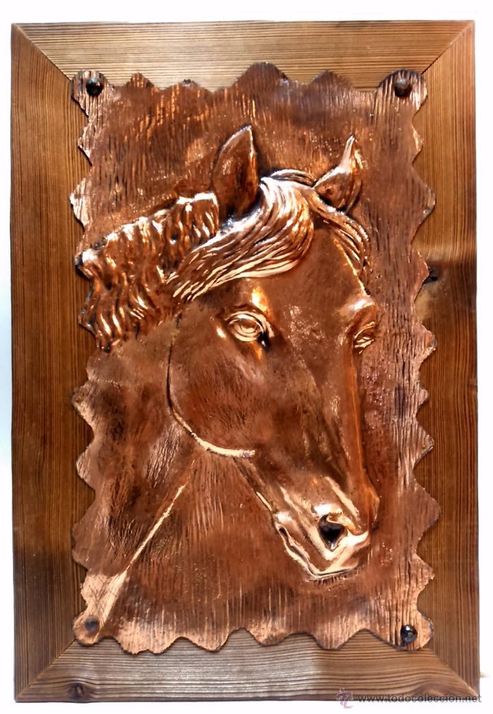 chapa de cobre repujada con cabeza de caballo y - Comprar Carteles ...