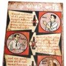 Carteles: ANTIGUO CARTEL CHAPA METAL PUBLICITARIO CAMPAÑA DE GOBIERNO PROHIBICION DEL ALCOHOL- INDIA AÑOS 50. Lote 51775177