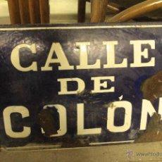 Carteles: CARTEL, ABOMBADO, CALLE DE COLÓN, BANYERES DE MARIOLA, ALICANTE. BAÑERES. Lote 51789077