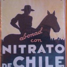Carteles: CHAPA PUBLICITARIA NITRATO DE CHILE (RÉPLICA). Lote 52464270
