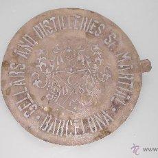 Carteles: CHAPA DE PLANTILLA DE METAL PARA MARCAR LAS BOTAS DE VINO , CELLARS AND DISTELLERIES ST MARTIAL. Lote 52819116