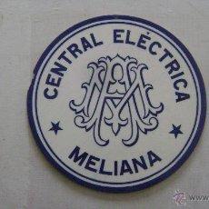 Carteles: PLACA CERAMICA ESMALTADA CENTRAL ELECTRICA. MELIANA. Lote 52913483