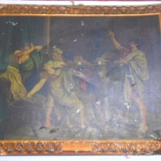Carteles: CHAPA PUBLICIDAD CARTELES METALICOS HIJOS DE G. BERTRAN.1932, LA MUERTE DE LUCRECIA ROSALES. Lote 52941978