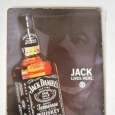 Carteles: CARTEL DE CHAPA - JACK DANIEL´S - JACK DANIELS WHISKEY - 30 X 20 CM. . Lote 53313136