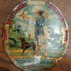 Carteles: CHAPA LITOGRAFIADA ,DESTILERIAS DIANA, EDUARDO GARRIGA - BADALONA , CASA FUNDADA EN 1882. Lote 53524033