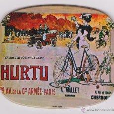 Carteles: PLACA PUBLICITARIA DE COMPAGNIE DES AUTOS ET CYCLES HURTU. Lote 53615877