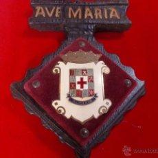 Carteles: ALMERIA ESCUDO ESMALTADO ANTIGUO. Lote 53842346