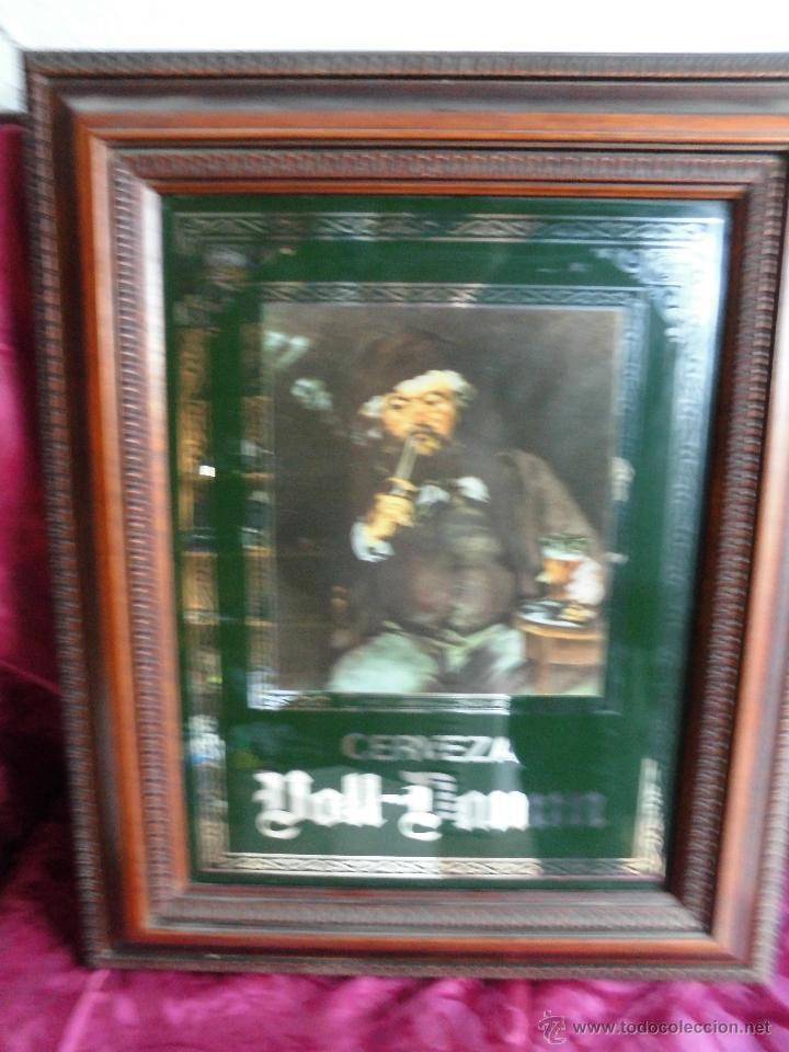 cartel espejo cerveza voll damm marco en madera - Comprar Carteles ...