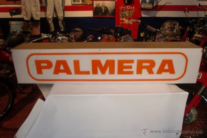 LETRERO LUMINOSO PALMERA HERRAMIENTAS 100X20X15 CMS (Coleccionismo - Carteles y Chapas Esmaltadas y Litografiadas)