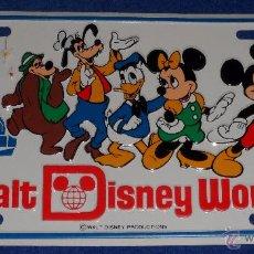 Carteles: CHAPA MATRICULA WALT DISNEY WORLD - ORIGINAL DE 1981. Lote 54138114