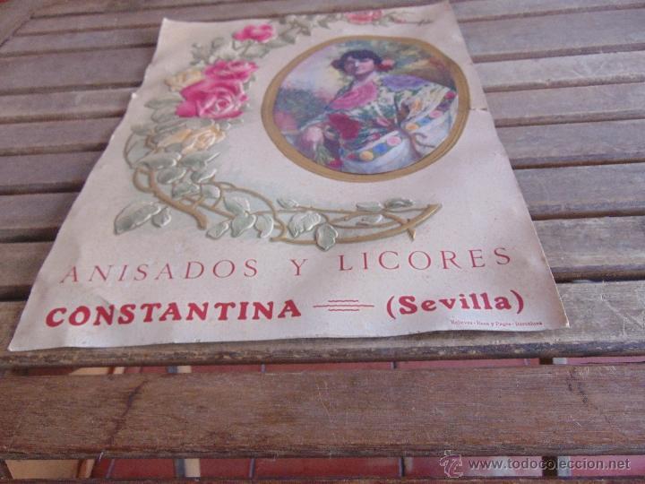 Carteles: CARTEL EN CARTON TROQUELADO ANISADOS Y LICORES CONSTANTINA SEVILLA RELIEVES BASA Y PAGUES BARCELONA - Foto 7 - 54341041