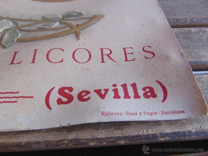 Carteles: CARTEL EN CARTON TROQUELADO ANISADOS Y LICORES CONSTANTINA SEVILLA RELIEVES BASA Y PAGUES BARCELONA - Foto 8 - 54341041