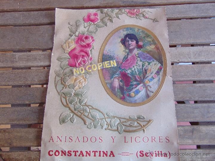 Carteles: CARTEL EN CARTON TROQUELADO ANISADOS Y LICORES CONSTANTINA SEVILLA RELIEVES BASA Y PAGUES BARCELONA - Foto 10 - 54341041