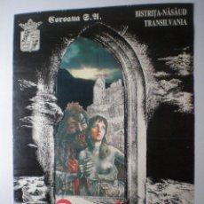 Carteles: DRACULA - LEGEND & TRUTH - CARTEL ORIGINAL DE EXPOSICION DEL ARTISTA RUMANO OCTAVIAN ION PENDA 1992. Lote 54510517